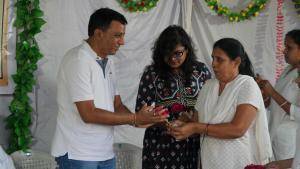 Boquet to Dr Mukesh Vaidya,  Additional Health officer,VMC